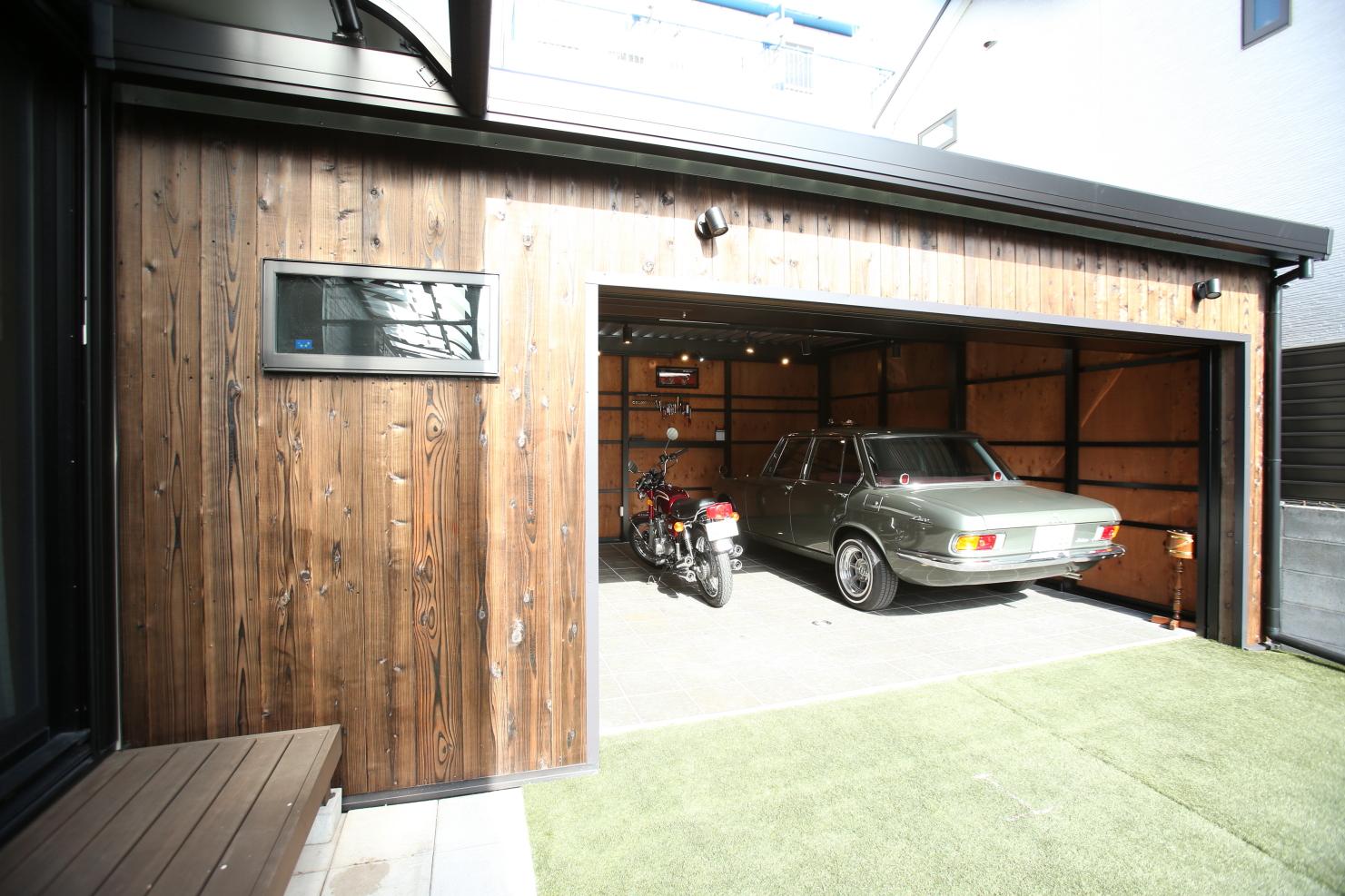 【隠れ家】自由設計ガレージMODEgならではの限られた敷地を極限まで活かした目黒区のY様のオリジナル・ガレージを訪問