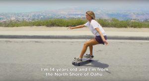 【SURF×SK8】弱冠14歳にして14歳以下と18歳以下の2部門で全米チャンピオンに輝いたハワイ出身のガールズサーファーLuana Silvaが密かに行なっているCarver skateboardsを使った陸上イメトレを公開!