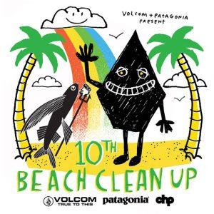 """【ビーチクリーン】誰でも参加可能! サーフィンスクールとスケートボードスクールも行われる第10回目""""VOLCOM PATAGONIA PARTNER CHP SUNRISE BEACH CLEAN UP""""が8/5(日)に千葉のサンライズにて開催!"""