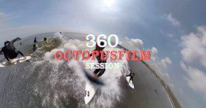 【GoPro×OCTOPUSFILM】OCTOPUSFILMの蛸優樹プロのライディングも収録! GoPro Futionの360度映像による追い撮り、水中と陸からの3アングルでの千葉フリーセッション