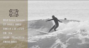 """【オルタナティブ】中村光貴プロがMOJO Kustom surfboardsのEPS製エッグノーズ""""DOUBLE ENDER""""で鵠沼の波をグライド&シュレッド"""