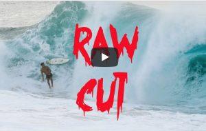 """【鬼必見動画】Noah Beschen、Barron Mamiya、Kalani Rivero、Makana Pangの若手ハワイアン4名が新たにスタートさせたVlog""""RAW CUT""""のエピソード1はウェッジなショアブレイクと化したケイキビーチ""""Eating Crab""""セッション"""