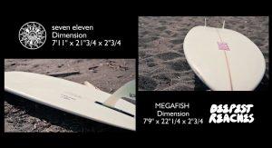 """【オルタナティブ】AC SHAPEの""""SEVEN ELEVEN""""モデルとDEEPEST REACHのMEGA FISHモデルといったミッドレングス2本を一般サーファーがテストライド!"""