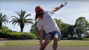【How to】Don't think, Feeel!!! サーフィン陸上イメトレのスケートボードではイメージが一番大事! 天才プロサーファー田中英義流サーフスケート練習法スケボーに乗って波を駆け抜ける編!!